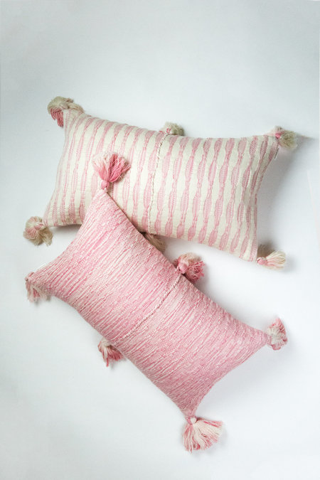 Archive New York Antigua Pillow - Faded Pink Stripe