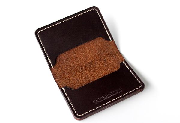DW Leatherworks Folded Card Wallet - Brown