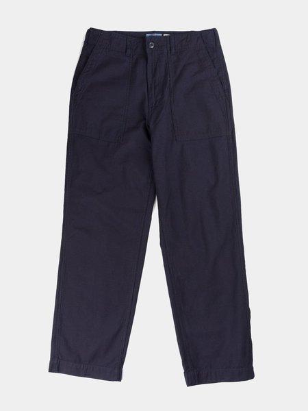 Blue Blue Japan Woven Back Satin Utility Pants - Indigo
