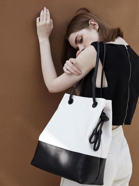 Atclip Knot Bag Canvas - Black