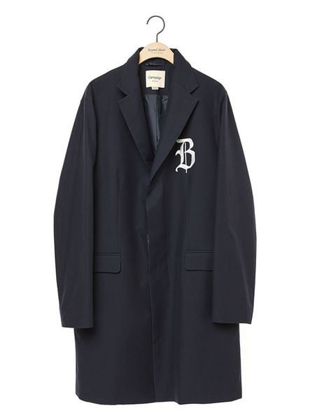 Unisex BC BY BEYONDCLOSET Collection Line Logo Hidden Detail Classic Coat - Black