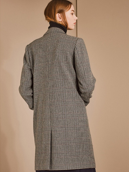 DEFOND Over Size Long Collar Double Coat - Gray