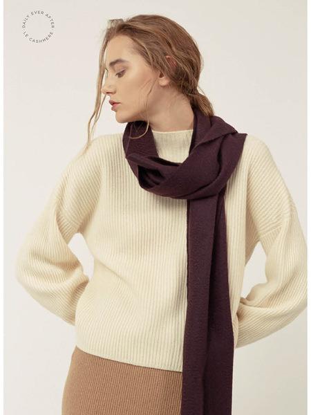 LE CASHMERE Half High Neck Pullover