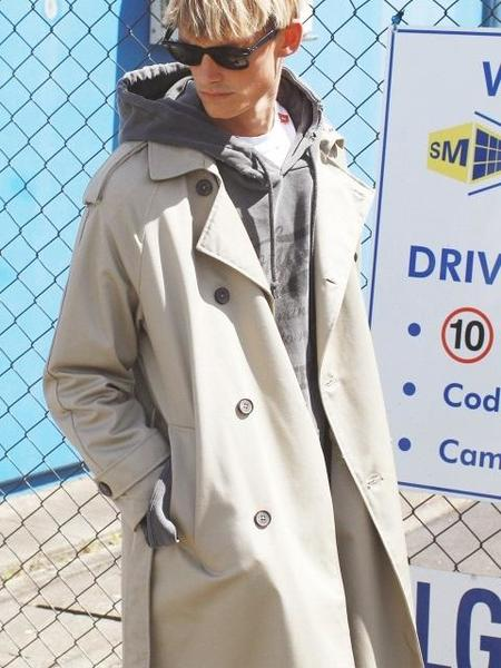 Unisex HOLY NUMBER 7 Timeless Long Trench Coat - Beige