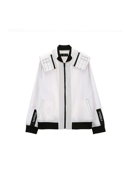 DOZOH Officer Patch Ma-1 Jacket - WHITE