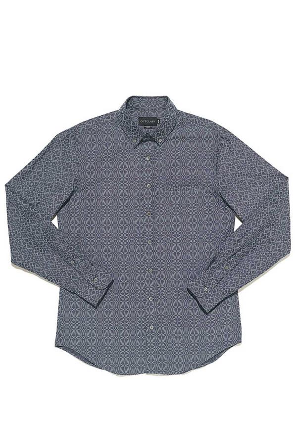 Men's Outclass Geometric Chambray Shirt