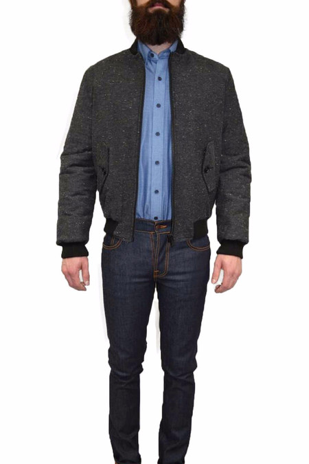 Men's United Stock Dry Goods Multi Nep Bomber | Charcoal
