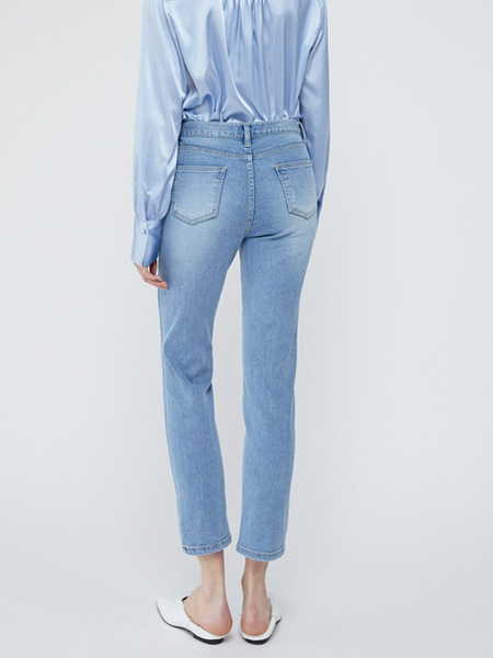 HACER SEOUL Straight Denim Pants - Light Blue