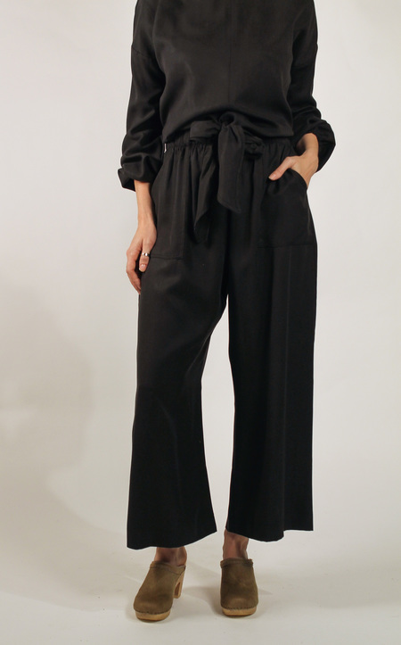Hackwith Design House Easy Wide Leg Pant - BLACK