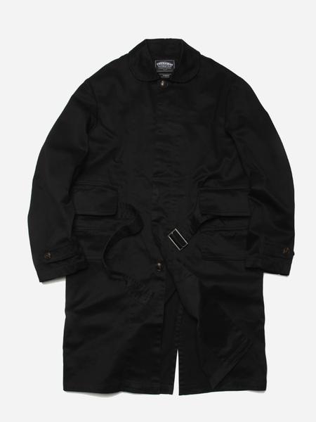 Unisex FRIZMWORKS Belted Single Coat - Black