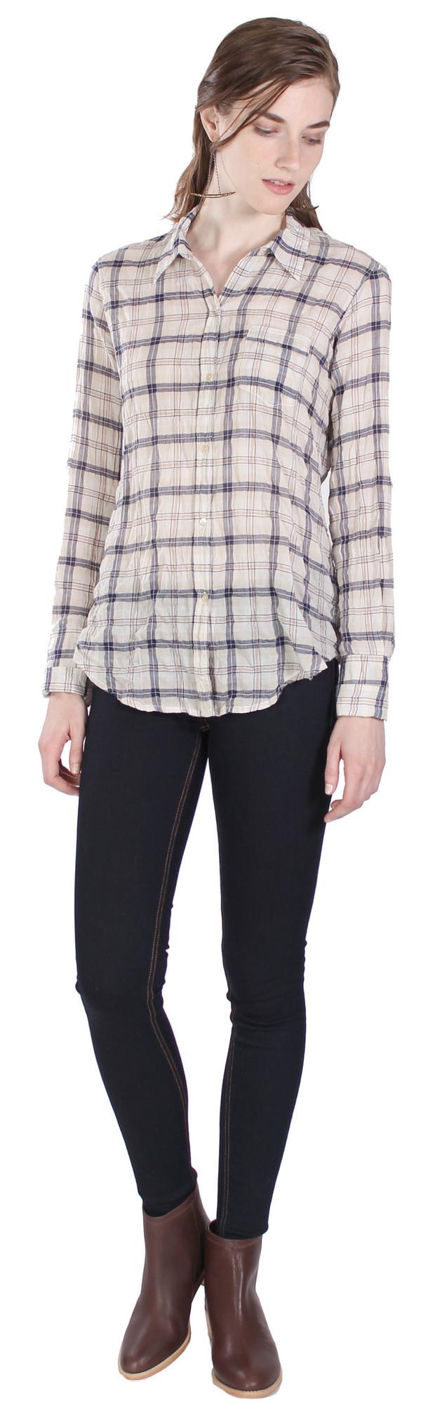 Nili Lotan Shirt Indigo Stripe in Multi