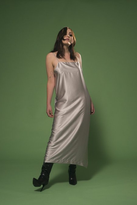 Miss Crabb Beautiful Collision Dress - Silver