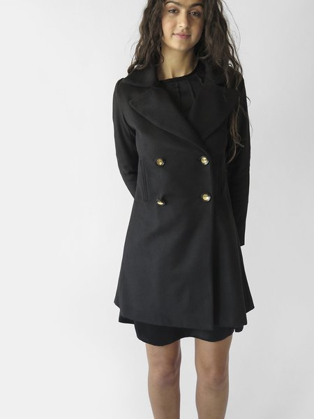 erica tanov hugo coat - black