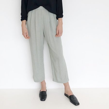 Johan Vintage Mint Stripe Easy Pant