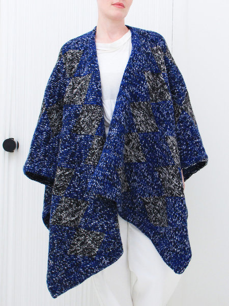 Elk Chale Wrap - Blue/Black/White