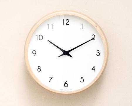 Lemnos Wood Wall Clock - Natural
