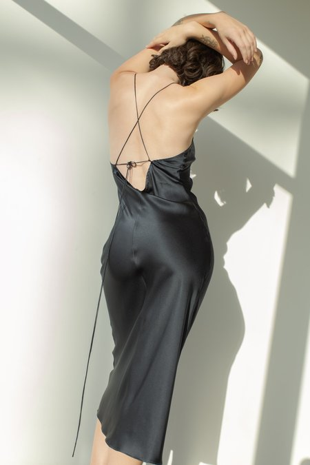 Pari Desai Sandoval Silk Slip Dress - Midnight Navy