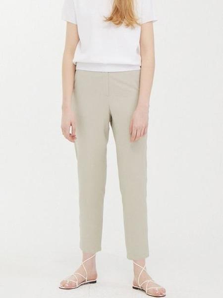 WNDERKAMMER Track Banding Slack Pants - Light Khaki