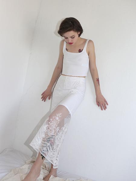 CLUT STUDIO Mermaid Lace Skirt - White