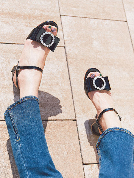 GISELLINA Ballanse Heels - Black