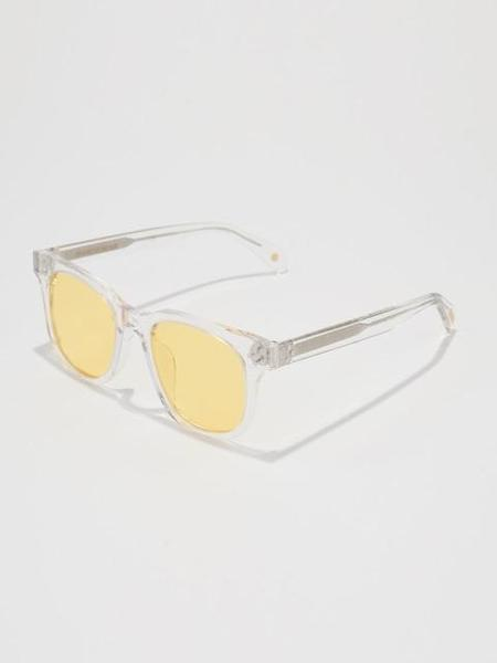 Unisex BVH Square Sunglasses - Clear/Yellow