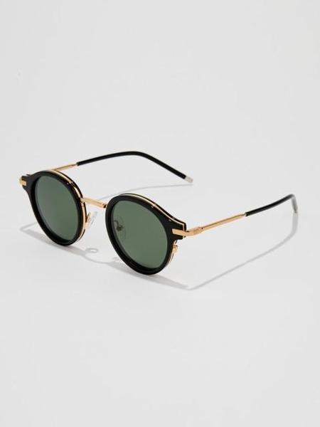 Unisex BVH Tinted Round Sunglasses