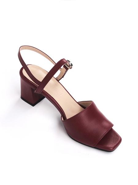 ATTITUDE;L Vin Sling back Sandals - Wine