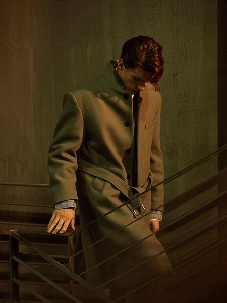 ADD Standing Collar Lobe Coat - Mint