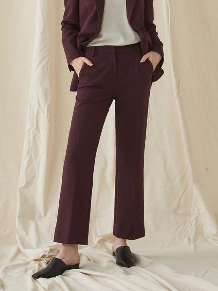 Millogrem Slim Standard Trousers - Wine