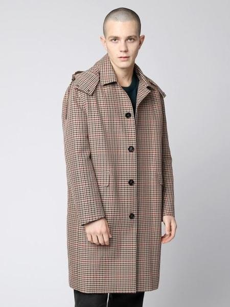 GRAY HUE Multi Check Trench Coat - Beige