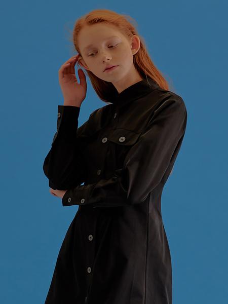 CITYBREEZE Pin Tuck Dress - Black