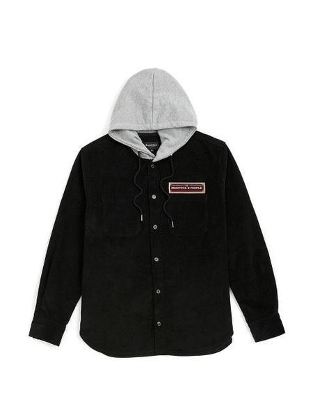 Unisex BC BY BEYONDCLOSET Wappen Hooded Shirt - Black