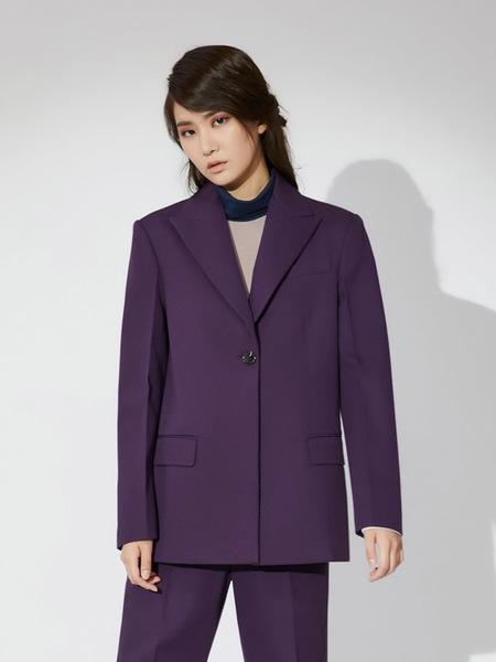 AHEIT Single Breasted Jacket - Purple