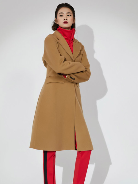 AHEIT Tailored Single Breasted Handmade Coat - Beige