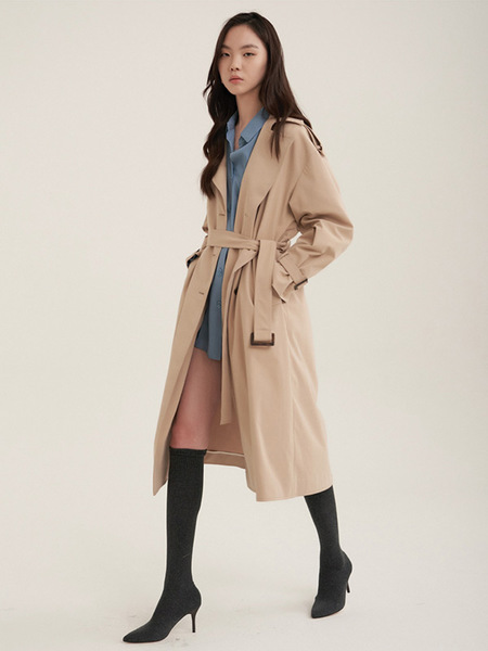 38comeoncommon Double Over Trench Coat - Beige