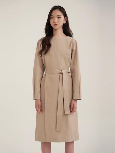 38comeoncommon Pintuck Dress - Beige