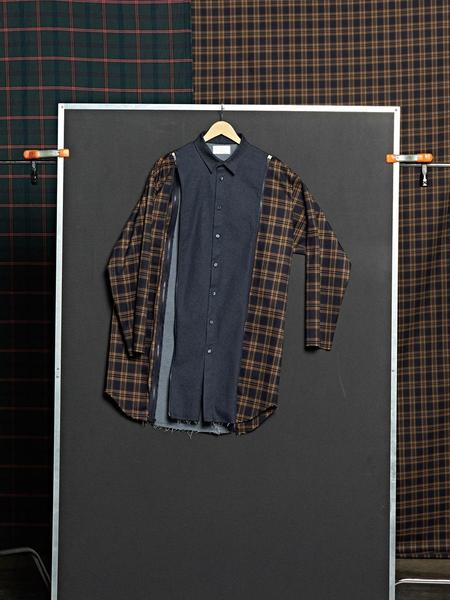 DBSW Zip Off Check Shirt - Navy