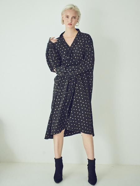 LOVLOV Long Scarf Dress - Navy