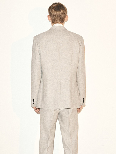 HALEINE Classic Blazer - Light Grey