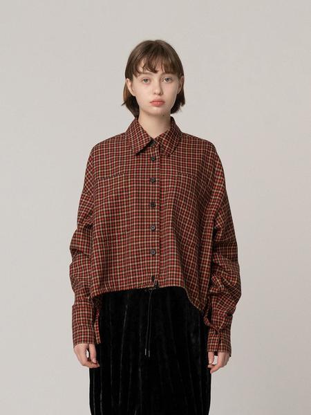 ROCKET X LUNCH Hem String Multi Check Shirt - Red