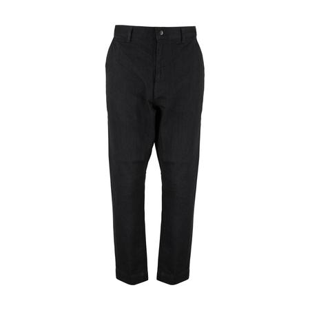 WHITE MOUNTAINEERING 11oz Stretch Denim Tapered Pants - BLACK