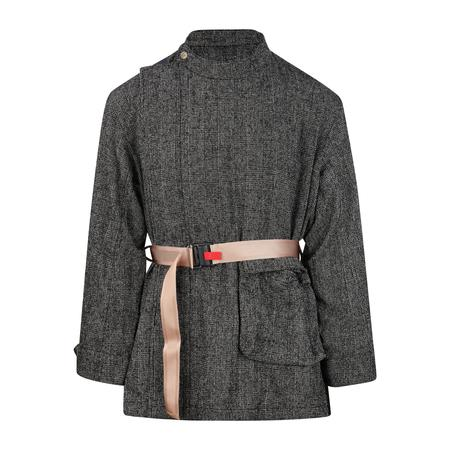 Digawel Belted Stand Collar Jacket - GLEN CHECK