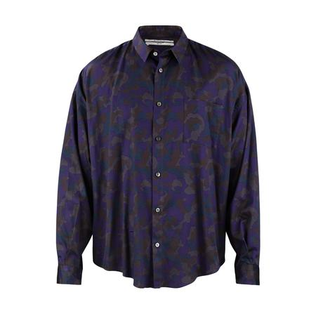 Robert Geller Camo Night Shirt - Navy/Grey