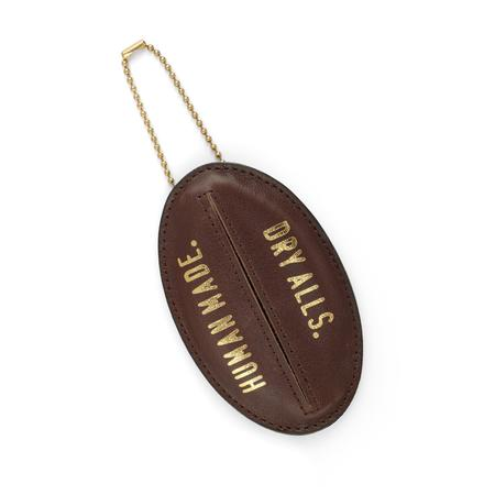 Human Made Cow Leather Key Holder - BROWN