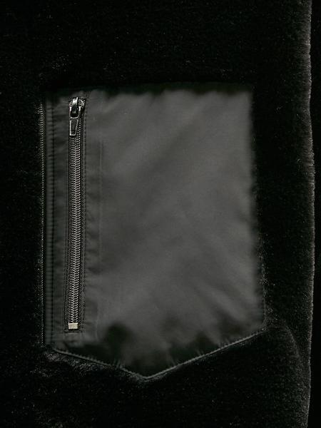Unisex COLLABOTORY Faux Fur Zipup Jacket - Black