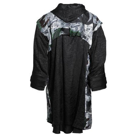 OAMC Flower Power Overcoat - BLACK