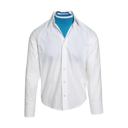 Facetasm High Neck Layer Shirt - White