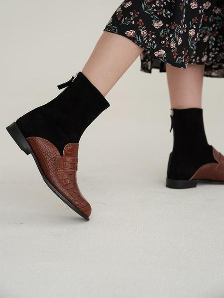 LILYSHOE Mino Ankle Boots - Brown