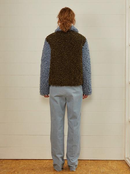 fleamadonna Triple Colored Fur Jacket - Ivory