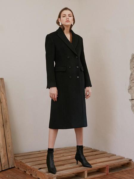 ATRE Slim Line Long Coat - Black